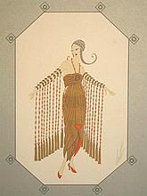 ERTE Signed Lithograph Russian 1979
