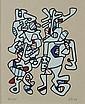 JEAN DUBUFFET Silkscreen French 1973