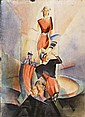 ALBERT MUELLER Signed Watercolour German Art Sailor, Albert Mueller, Click for value