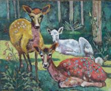 Germaine Nordmann-Signed Painting  Ecole de Paris Animals French
