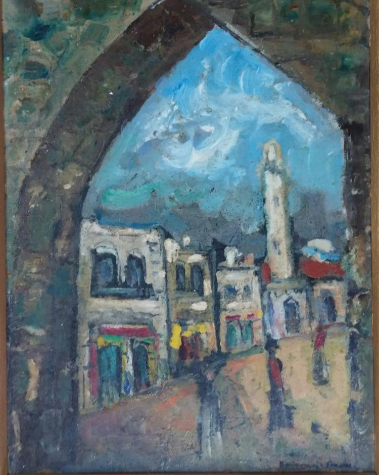 BORVINE FRENKEL Signed Painting Polish Jewish French