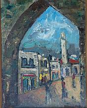 BORVINE FRENKEL Signed Painting Polish Jewish French