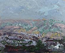 GHÉRA BENN Signed Painting French Russian Art Abstract Landscape