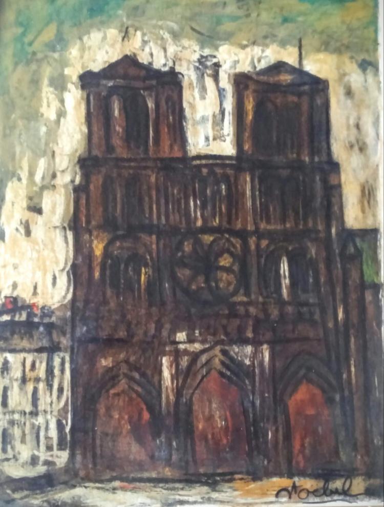 EDGAR STOEBEL Signed Oil Painting French Ecole de Paris Jewish