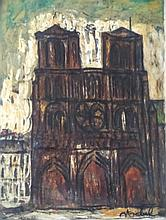 EDGAR STOEBEL Signed Oil Painting French Ecole de Paris Jewish