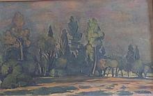 MICHEL ADLEN Signed Painting Russian French Ecole de Paris