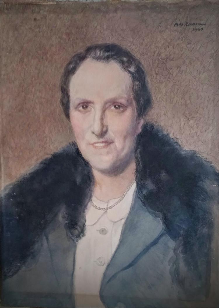 ALEXIS DE BROCA Signed Painting 1940 French Ecole de Paris
