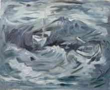 EITY PROSZOWSKA Signed Painting Polish French 1960 Ecole de Paris