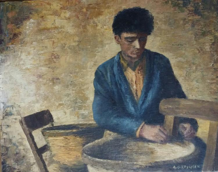 RUTH GROSSMAN Signed Painting Ecole de Paris New Zealand