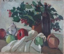 Etienne-Henri BOCHET Signed Painting 1970 rench Ecole de Paris
