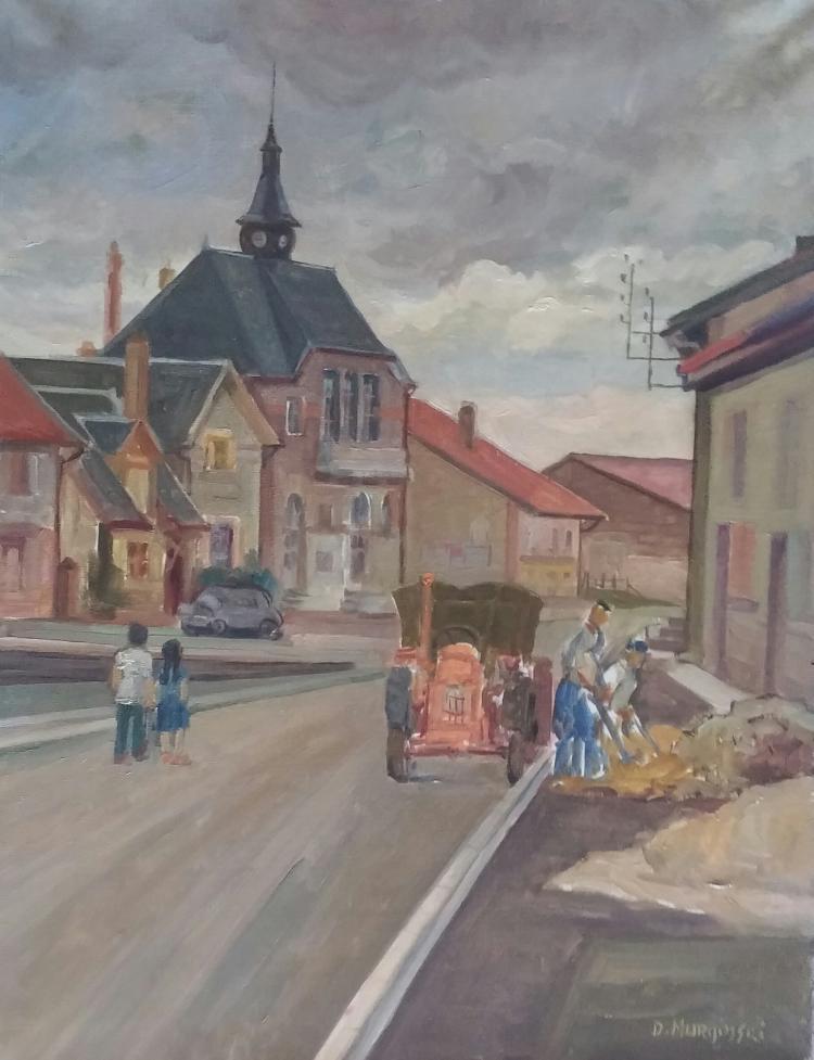 DAVID MURGINSKI Signed Painting Israeli French Ecole de Paris