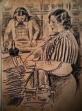 MICHEL ADLEN Signed Painting 1938 Russian French Ecole de Paris