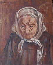 ISAAC DOBRINSKY Signed Painting 1948 Ukrianian Polish Jewish