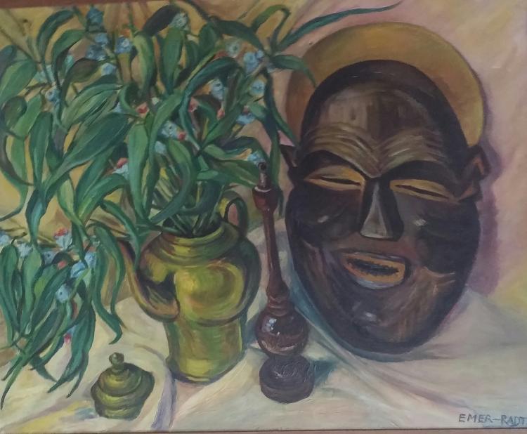 EMER-RADT Signed Painting 1958 French German Polish Ecole de Paris