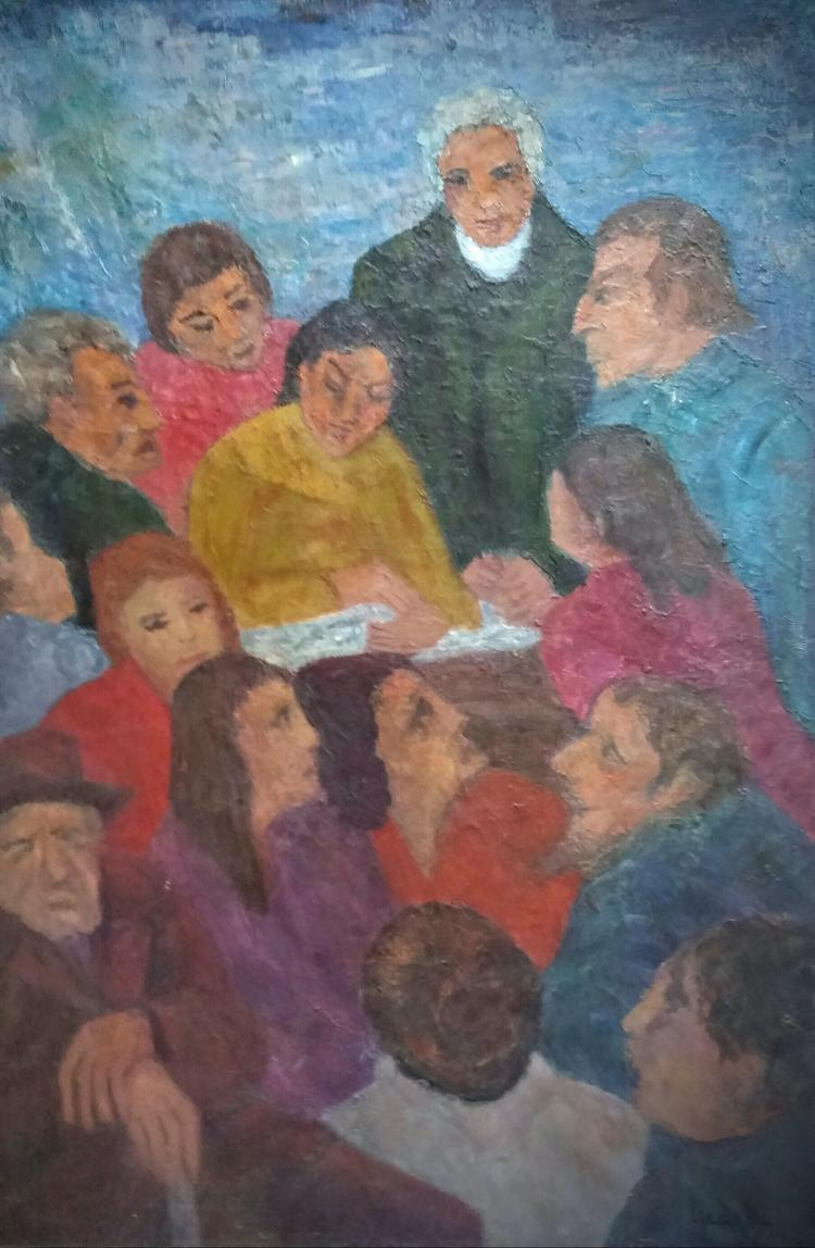 LUCEK Large Signed Painting Polish French Ecole de Paris