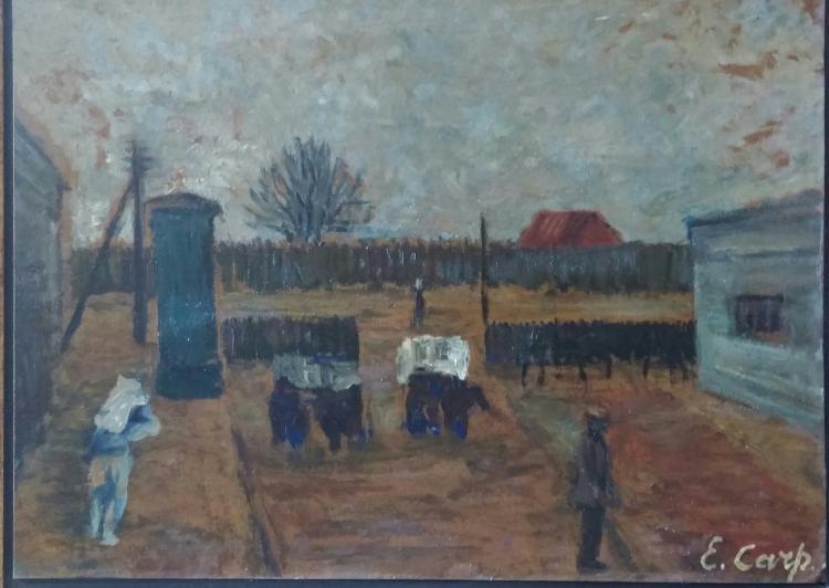 ESTHER CARP Signed Painting 1938 Polish Ecole de Paris