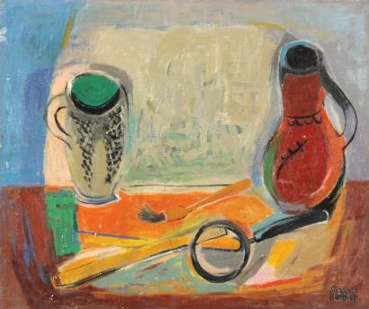 SUZANNE BERTHET Signed Painting French Ecole de Paris