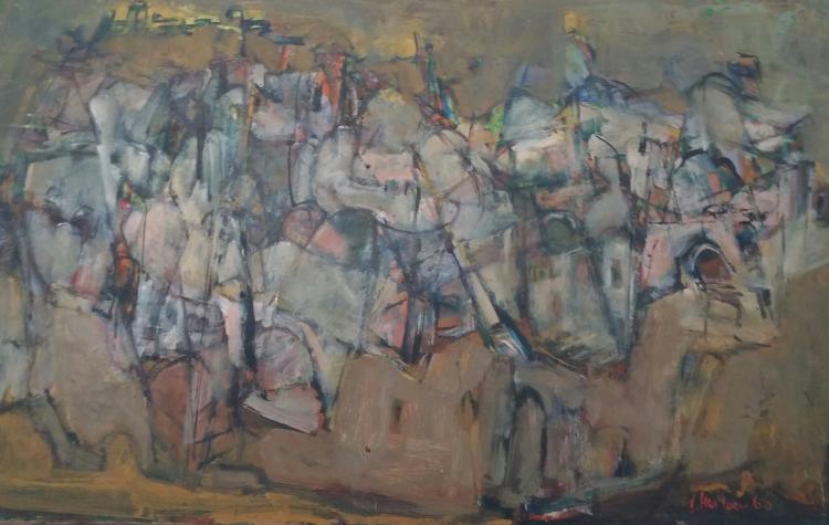 JUDITH HAR EVEN Signed Painting Israeli Art