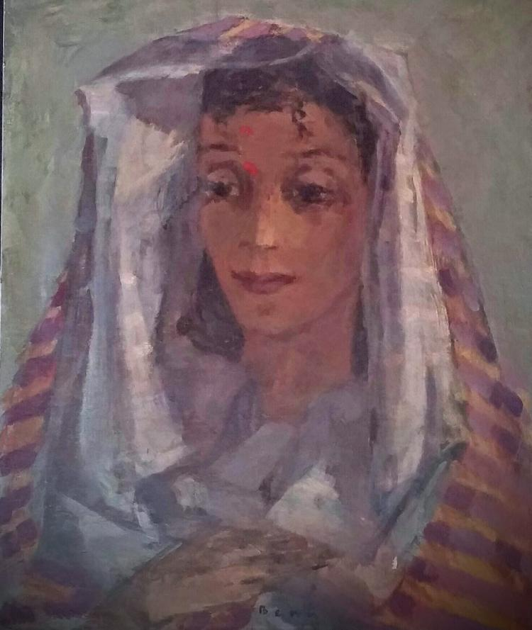 BENN Signed Painting Polish Russian French Ecole de Paris