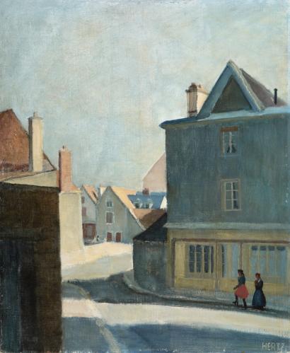 MOGENS HERTZ Signed Painting Danish Impressionism