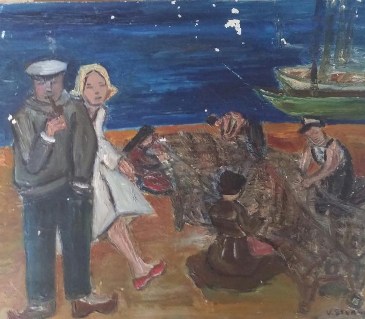 VIOLETTE STERNIK Signed Oil Painting Polish Ecole de Paris French