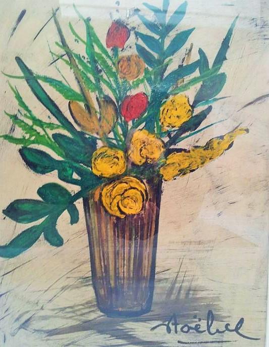 EDGAR STOEBEL Signed Oil Painting French Algeria Jewish