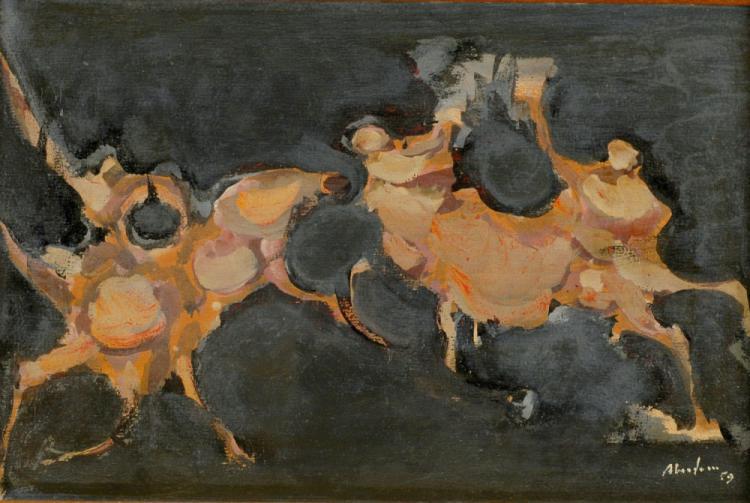 ALFRED ABERDAM Signed Oil Painting 1959 Polish Ecole de Paris