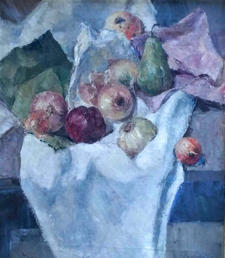 SAMUEL GRANOVSKY Signed Oil Painting Russian 1931