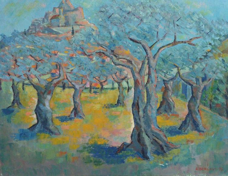 Alexandre BERLANT Large Signed Painting French Ecole de Paris