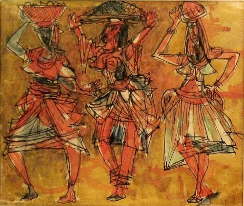 MARCEL JANCO Signed Watercolour 1943 DADA Romanian Swiss