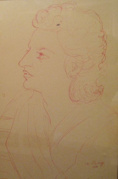 CHANA ORLOFF Hand SIgned Drawing Russian Ukrainian Art 1950