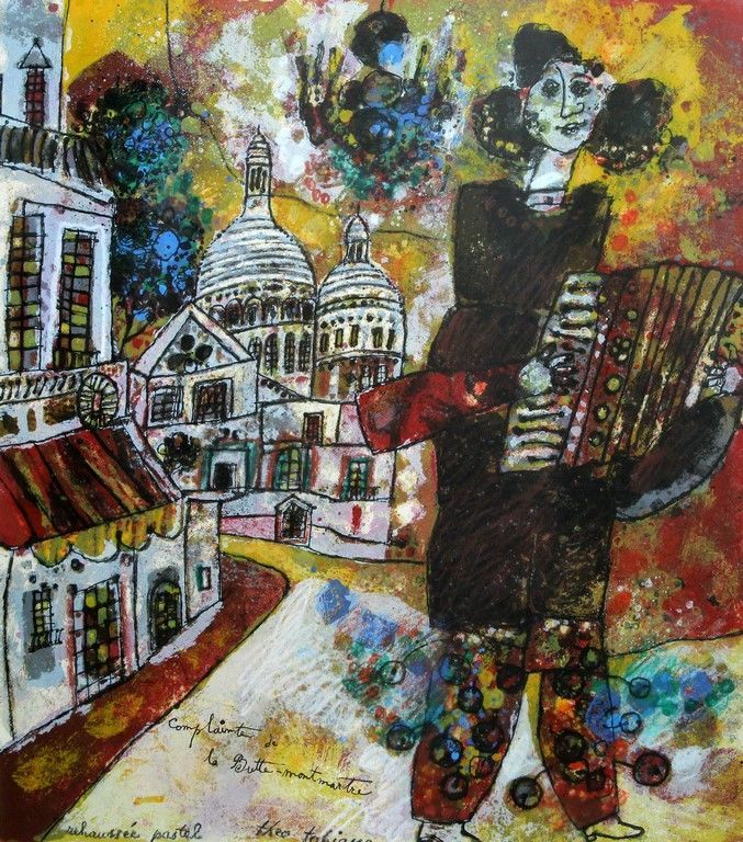 THEO TOBIASSE Signed Pastel and Silkscreen French Israeli