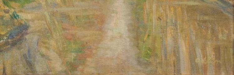 MICHEL ADLEN Signed Painting Ukrainian French Ecole de Paris