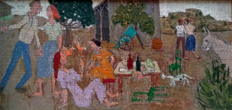 GREGOIRE MICHONZE  Signed Oil Painting Ecole de Paris French