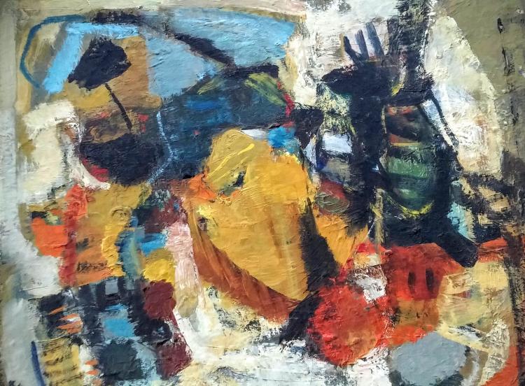 SIMA SLONIM Sigbed Painting 1964 Israeli Art Abstract Still Life