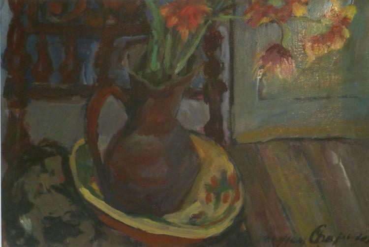 JACQUES CHAPIRO Painting Russian Ecole de Paris