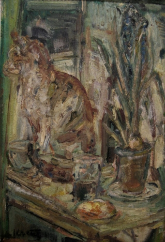 LEOPOLD KRETZ Signed Painting Ukrainian Polish Art Ecole de Paris