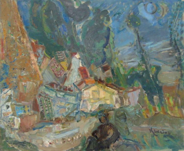 MICHEL KIKOINE Signed Oil Painting Russian French Art Ecole de Paris <br> 1960/65