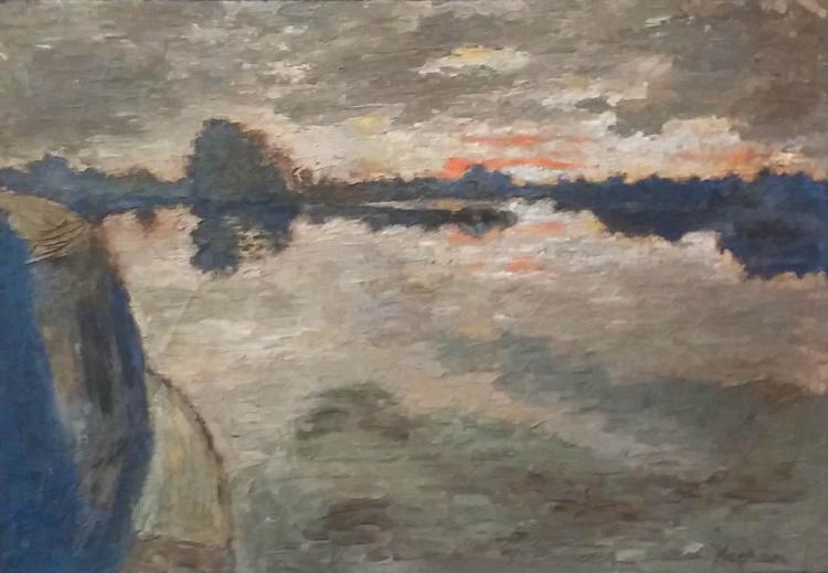 ANATOLI  KAPLAN Signed Oil Painting Russian Art Jewish