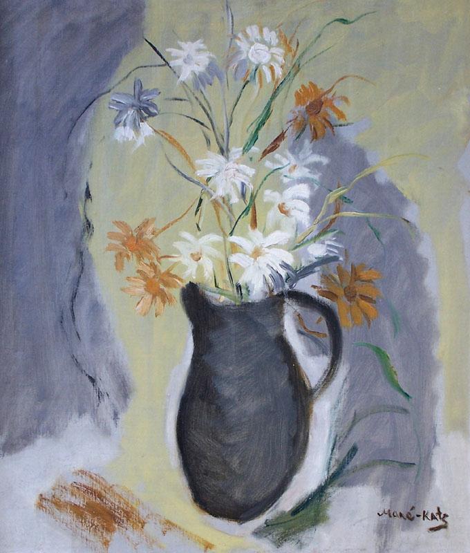 MANE KATZ Signed Oil Painting Russian Art Judaica
