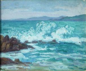 JEAN PESKE Signed Oil Painting Ukrainian Russian Art