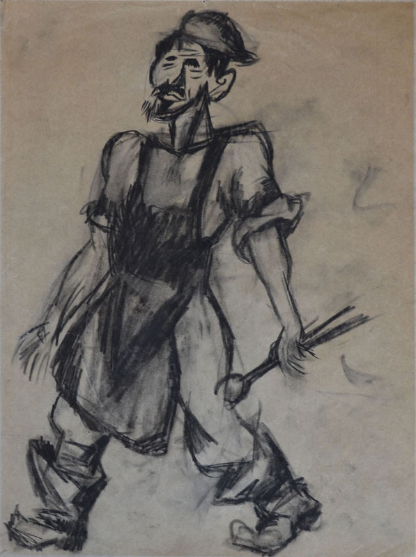 ISSACHAR RYBACK Drawing Russian Art Cubism Judaica
