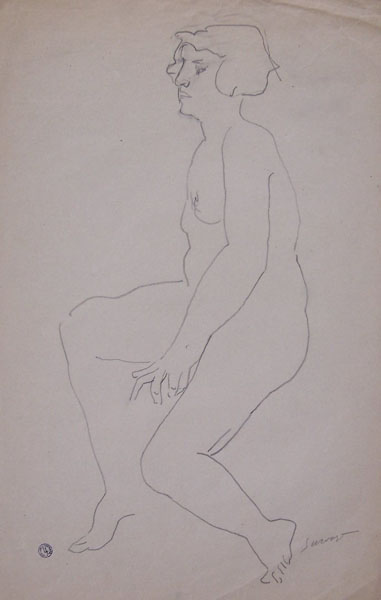 LEOPOLD SURVAGE Drawing Russian Cubism