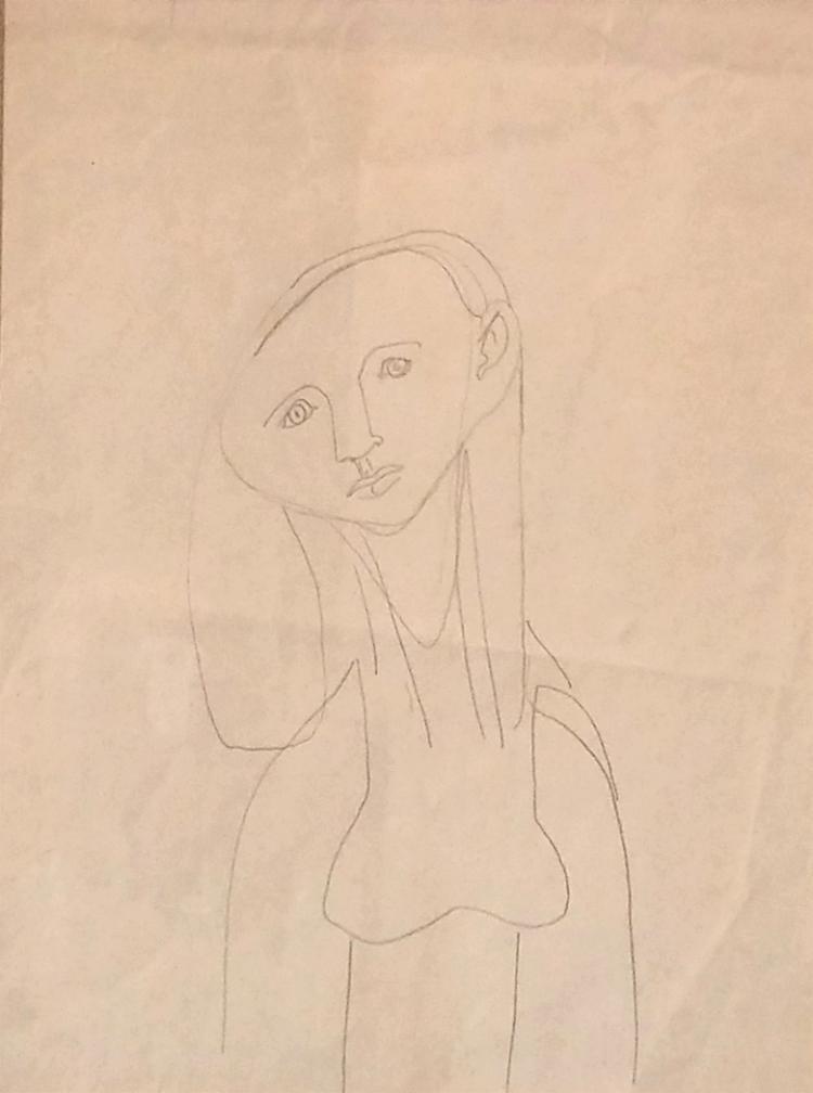 JANKEL ADLER Ink Drawing Polish British 1940's Jewish Art