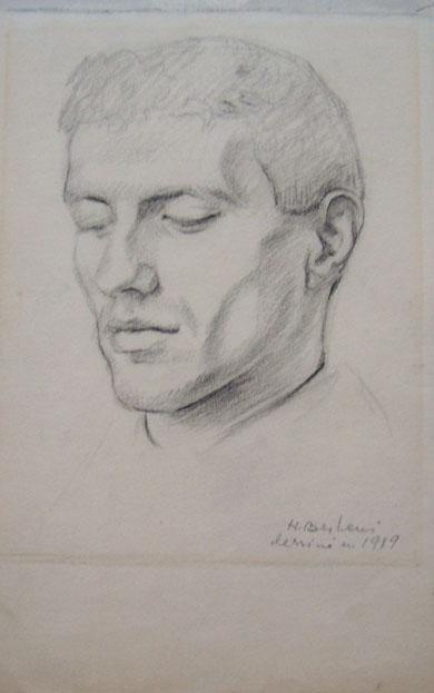 HENRYK BERLEWI Signed Drawing Polish Art 1919