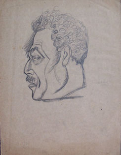 HENRYK BERLEWI Signed Drawing Polish Art, 1921