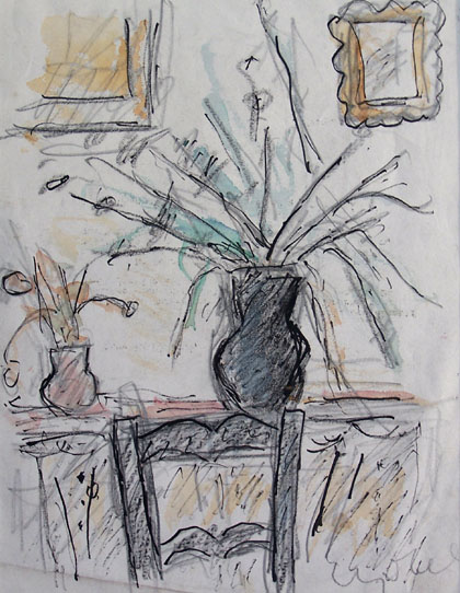 BELA CZOBEL Signed Drawing Hungarian Art