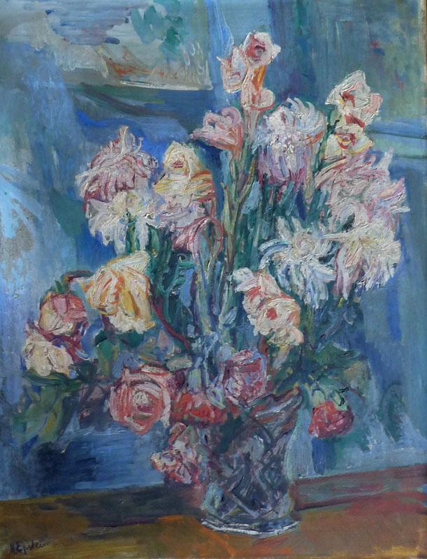 HENRI EPSTEIN Signed Oil Painting Polish Art