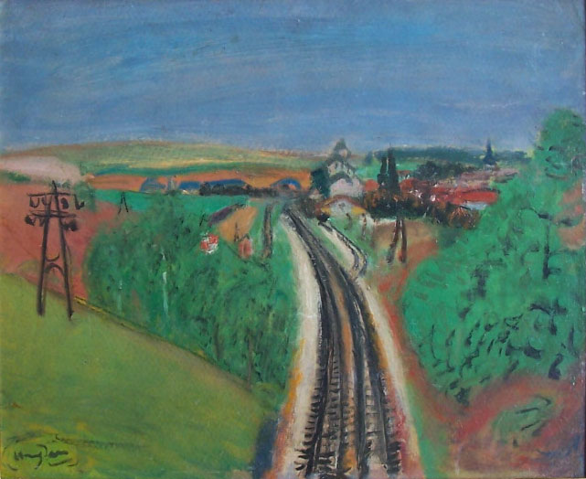 HENRI HAYDEN-Signed Oil Painting Polish
