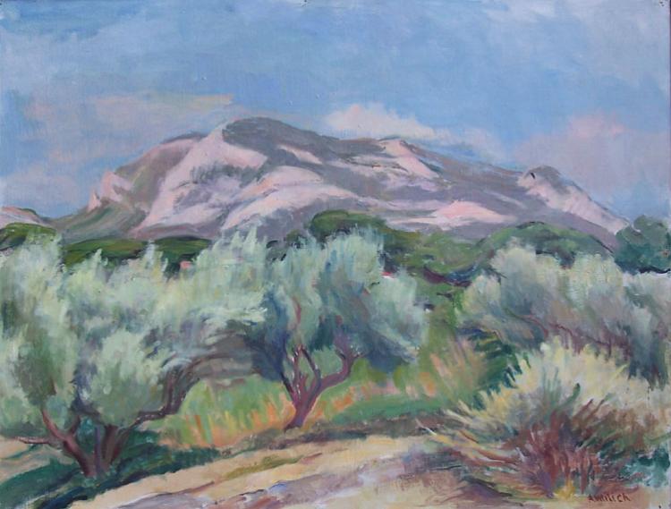 ADOLPHE MILICH Painting Polish Art Ecole de Paris 1955